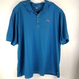 Tommy Bahama Supima Cotton Knit Polo Golf Shirt SZ